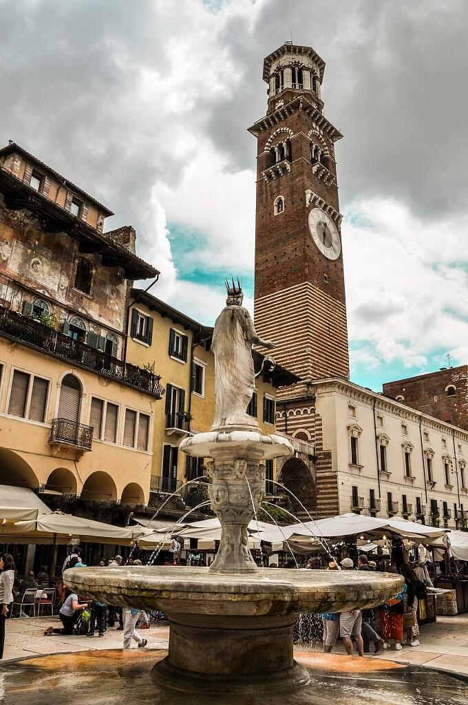 Erbe - a historical square in Verona